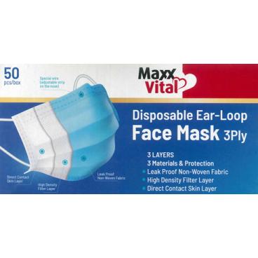 DISPOSABLE FACE MASK 3PLY (50pcs box)