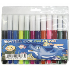 WATER COLOUR PENS ( PACK OF 12 )